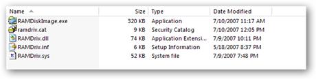 RAMDisk filelist