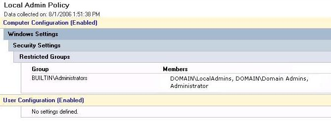 Script to add user to local admin group