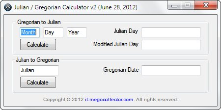 A Julian And Gregorian Calculator Using Autoit It Megocollector Com