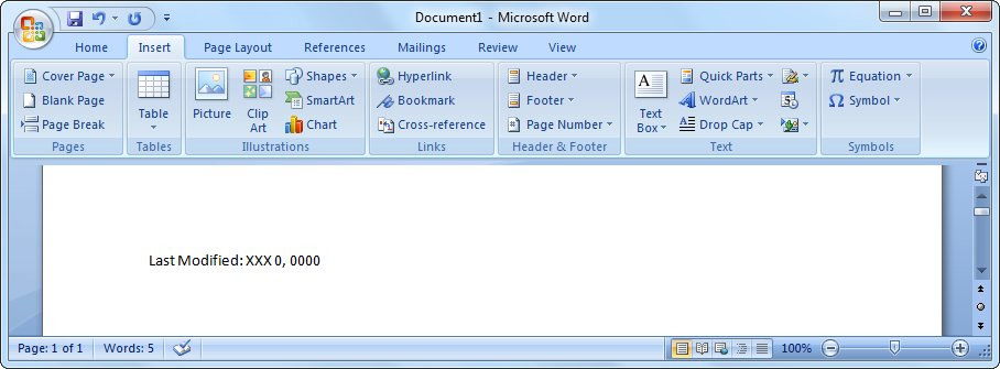 how to search document on date modified