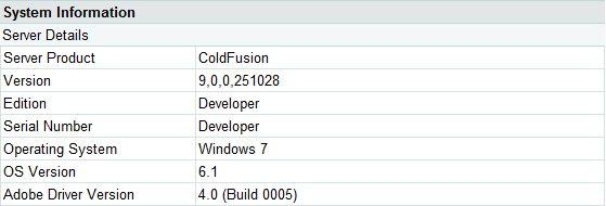 Coldfusion 9 Developer Edition